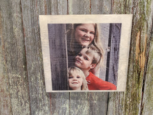 Photo on Wood Custom Your Photo Printed Large Thick Rustic Personalized Custom Gift Idea Wood Print Wood Photo Home Decor USA