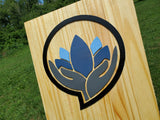Large Custom Vertical Company Sign, Over-sized Rustic Business Logo, Wood, Laser Cut Out, 3D, Extra Large, Sign 3D