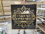3D Large Custom Business Sign Gold Black Extra Large Detail We Use Your Actual Graphic Business Logo Wood