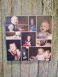 Collage Children Holds 9 Photos Wood Square Custom Photo Wall Hanging Photo Picture Family Photos Printed Personalized Gift Home Decor USA