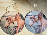 Photo on Wood Round Circle Custom Your Photo Printed Large Rustic Personalized Custom Gift Idea Wood Print Wood Photo Home Decor USA