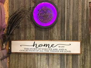 Large Custom Home Sign The Story Of Who are Are  Established Sign New Home Gift Over-sized Wood 3D Raised Text