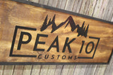 Raised Rustic Business Sign 3D Large Custom We Use Your Graphic and Colors Business Logo Wood Entrance Text Extra Large