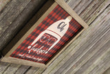 Oh Fudge! Wood Sign Buffalo Plaid Christmas Story I didn't Say Fudge Christmas Decoration Farmhouse Décor Framed Rustic Primitive Printed