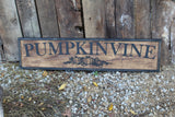 Large Custom Ranch Sign Over-sized Raised Text Pumpkin Rustic Business Logo Wood Laser Cut Out 3D Extra Large Sign