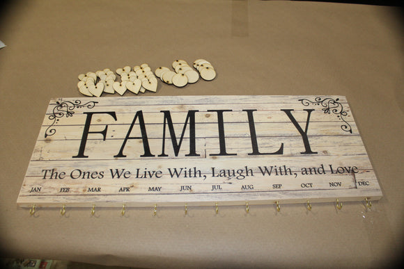 Custom Family Sign Listing