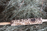 Valentines Sweetest Day Heart Flowers Floral Scroll Doodle Love 10 Inch Rolling Pin Pie Crust Embossed Pottery Texture Roller Cookie Stamp