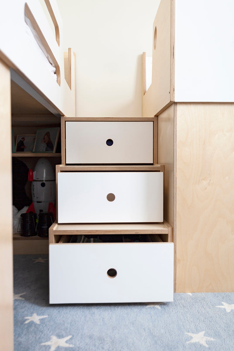 Staircase with Storage for Loft Bed