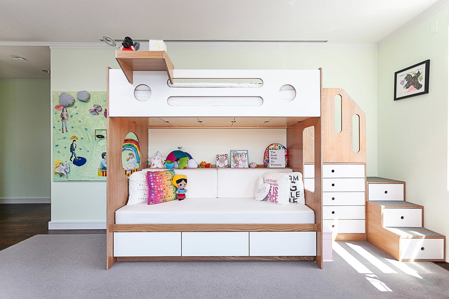 Casa Kids bunk bed oak