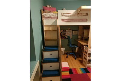 Birch and White Dumbo Loft Bed