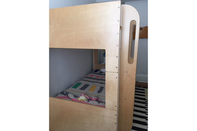 Birch and White Cabin Bunk Bed