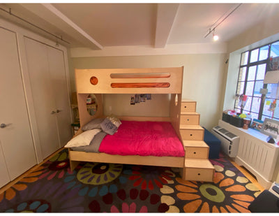 Birch Marino twin over full bunk bed