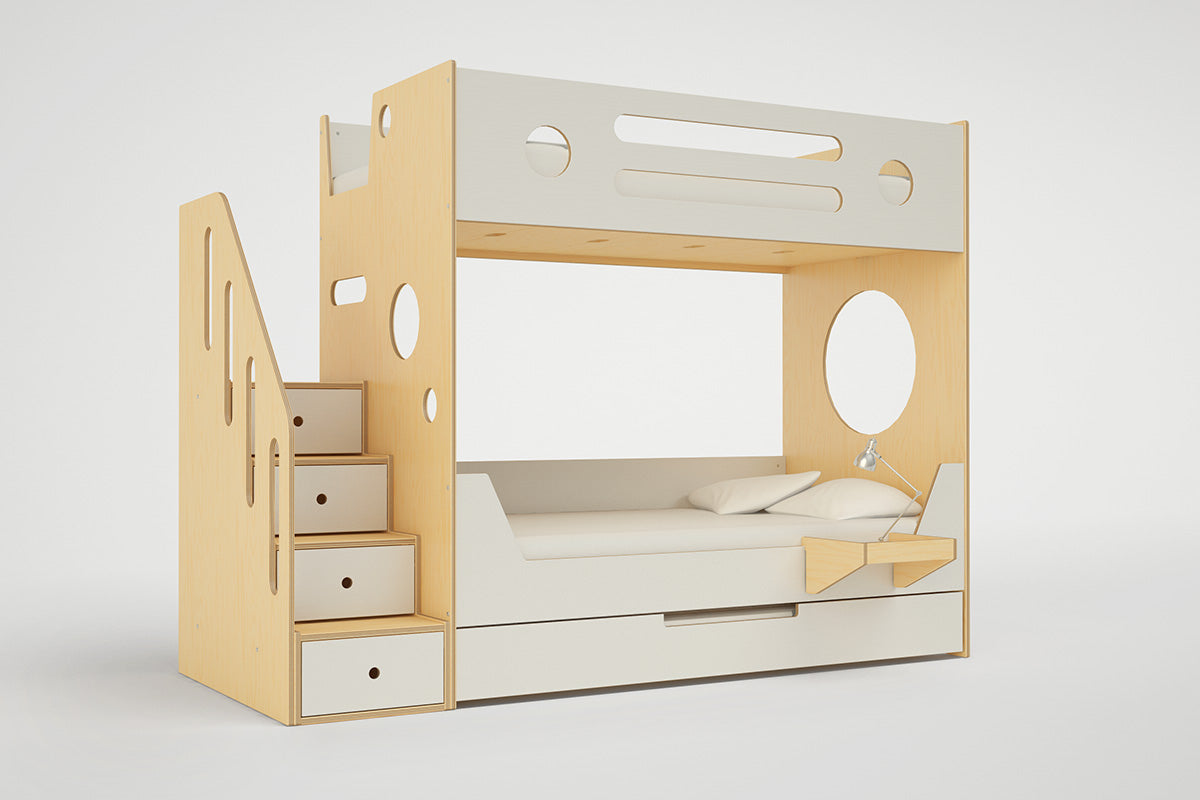 Marino Bunk Bed With Stairs Built In Storage Casa Kids