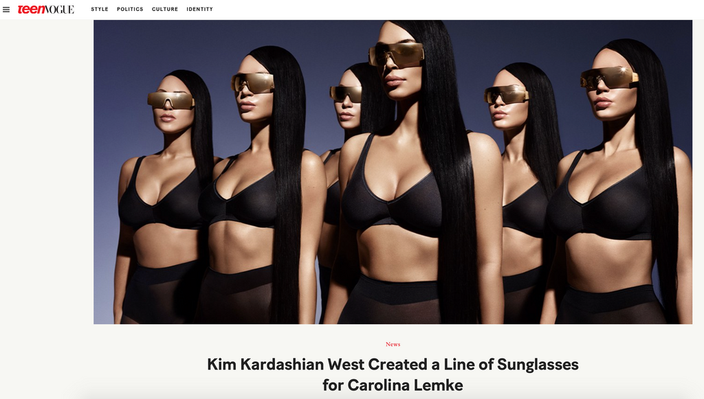Kim Kardashian West created a line of sunglasses for Carolina Lemke - by Teen Vogue