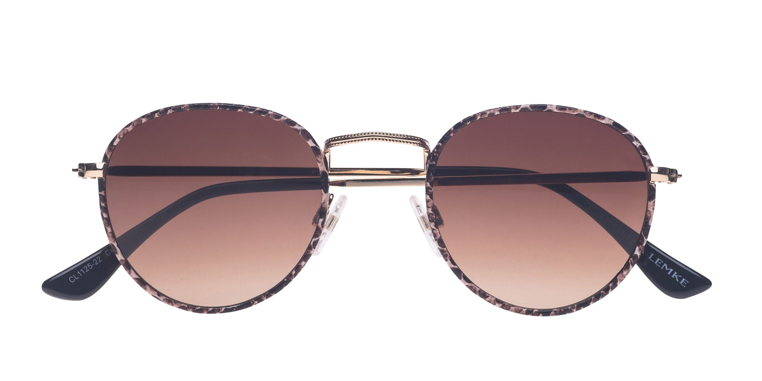 FRAME Snake LENS Gradient Brown