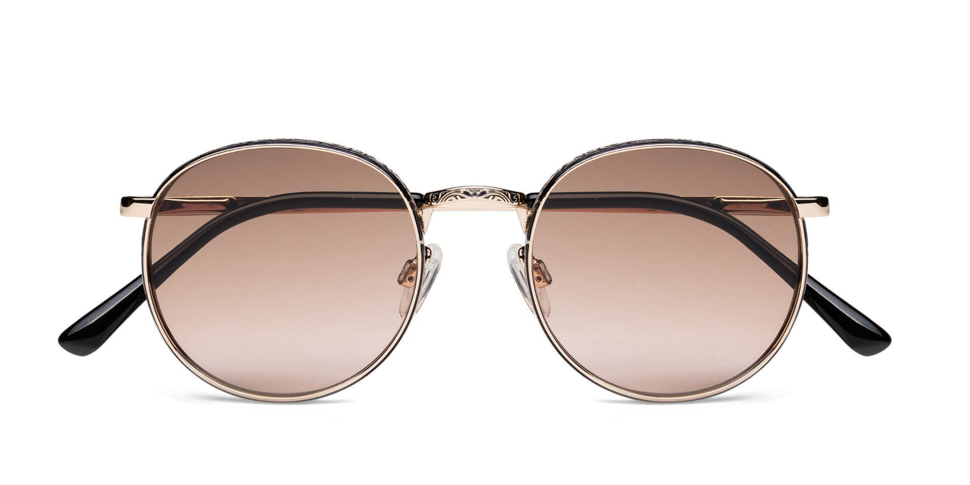 FRAME Shiny Light Gold LENS Brown to Pink