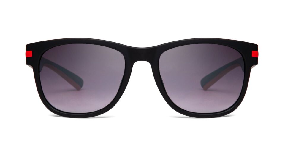 FRAME Matt Black with Red LENS Gradient Smoke