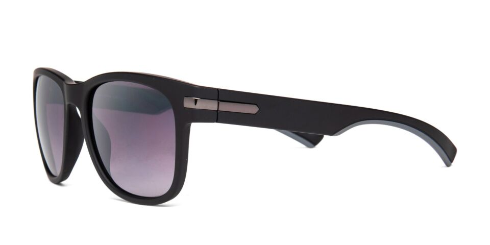 FRAME Matt Black with Gunmetal LENS Gradient Smoke