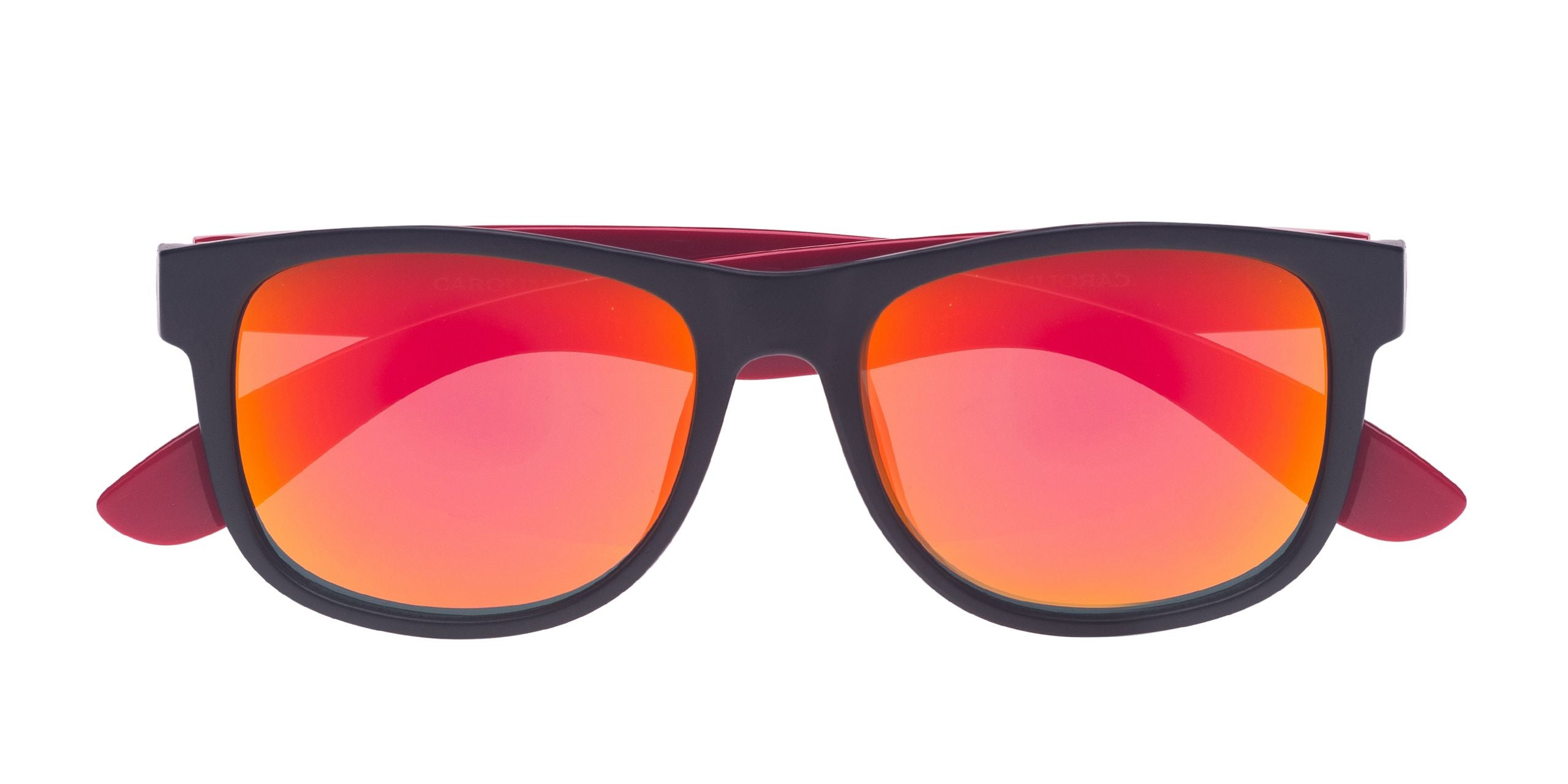 FRAME Black LENS Red Mirror