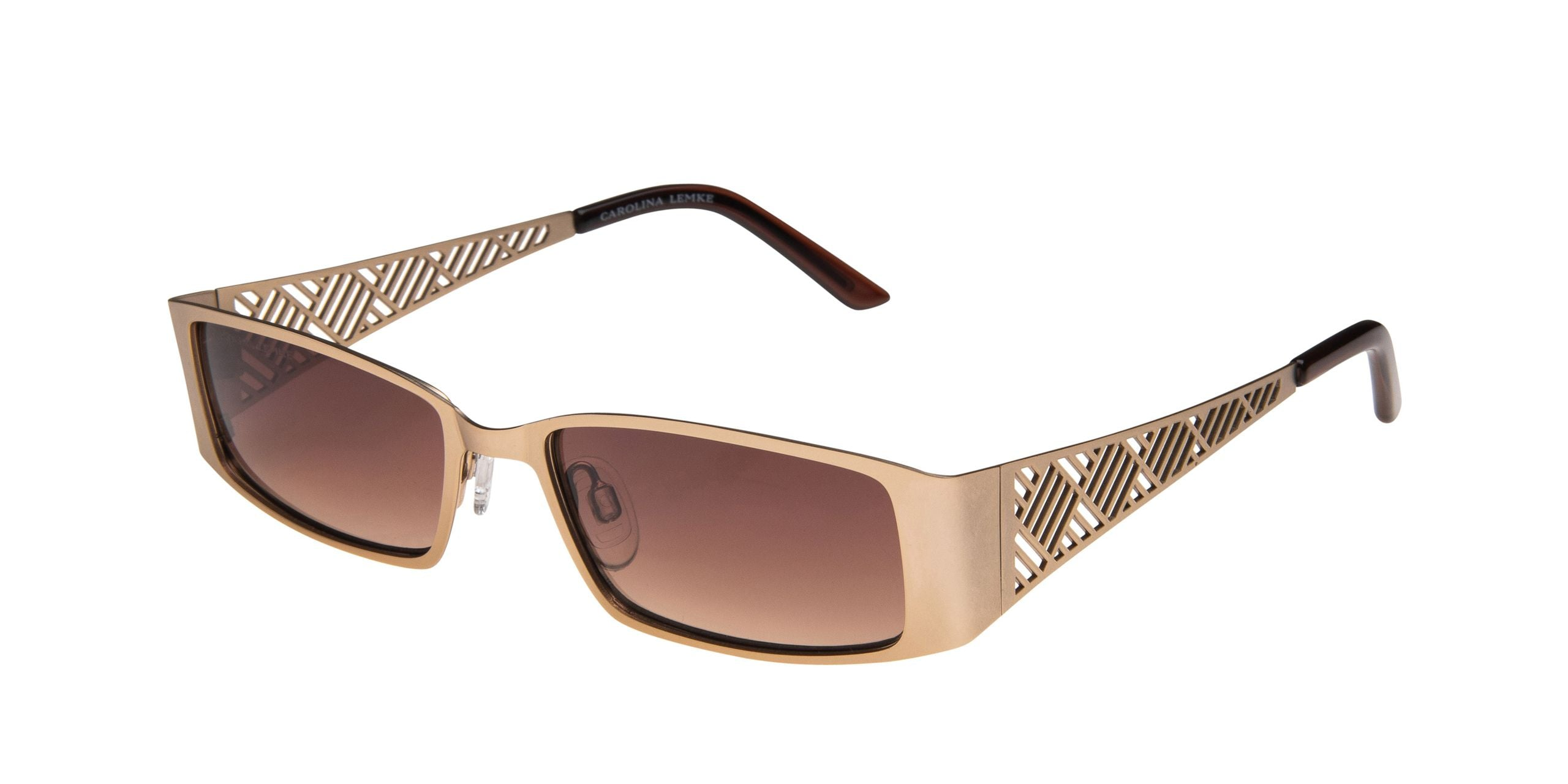 FRAME Matt Light Gold LENS Gradient Brown