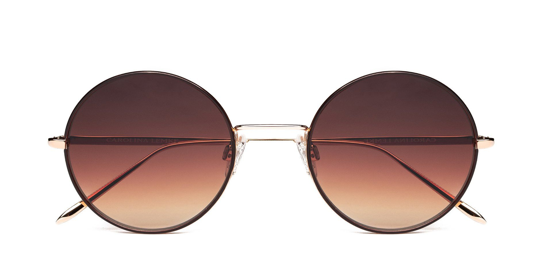 FRAME Matt Coffee Gold LENS Gradient Brown