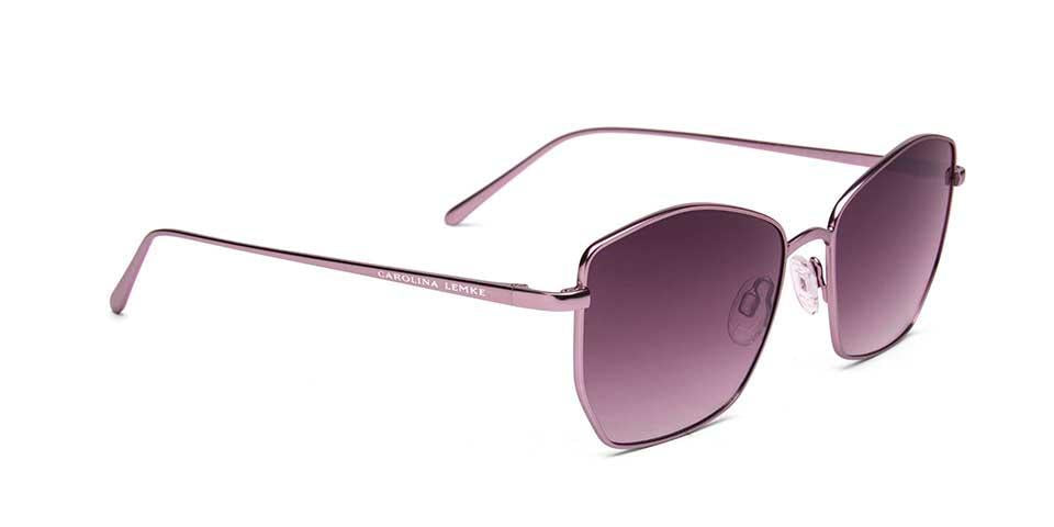 FRAME Matt Light Pink LENS Gradient Smoke