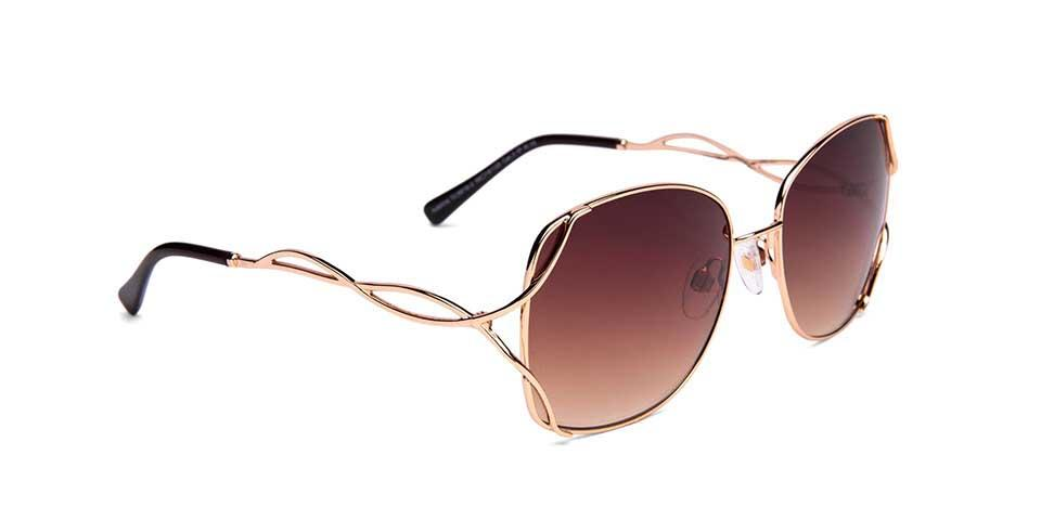 FRAME Gold LENS Gradient Brown