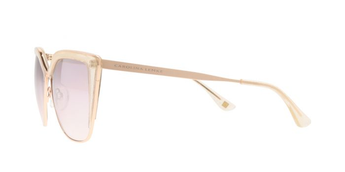 FRAME Gold Glitter LENS Gradient Silver Mirror Taupe