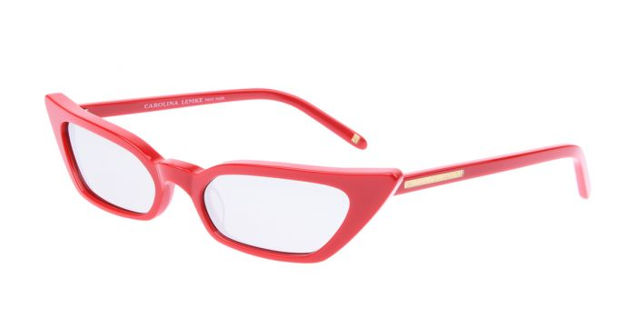 FRAME Red LENS Silver Mirror Smoke