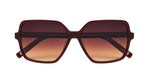 FRAME Transparent Brown LENS Gradient Brown