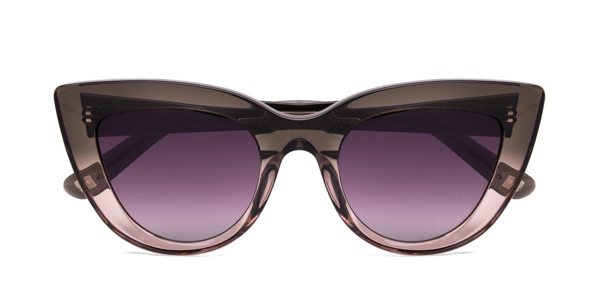FRAME Transparent Grey to Pink LENS Gradient Smoke