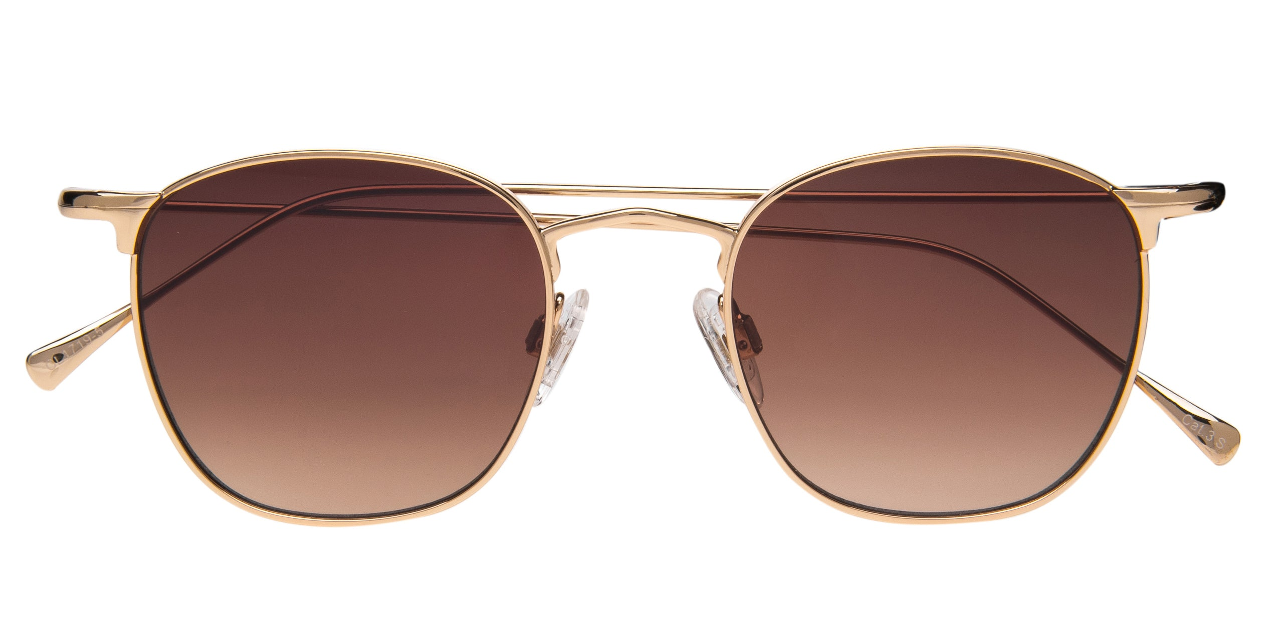 FRAME Shiny Light Gold LENS Gradient Brown