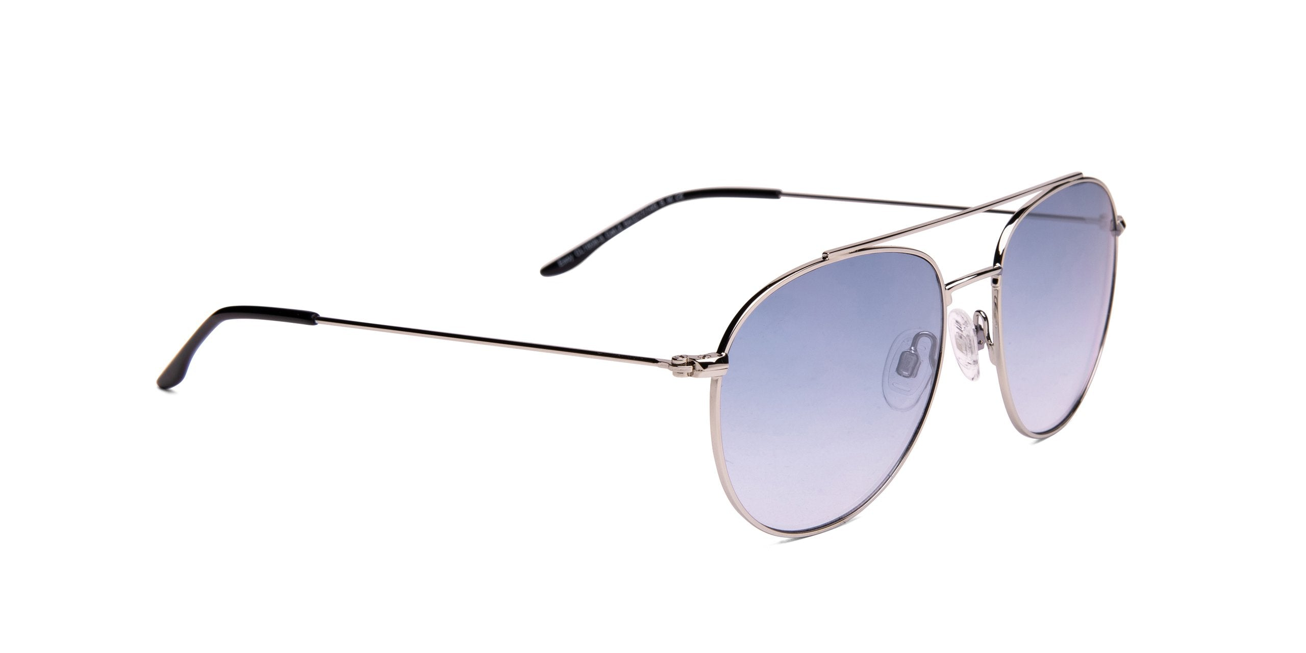 FRAME Silver LENS Gradient Brown White Mirror