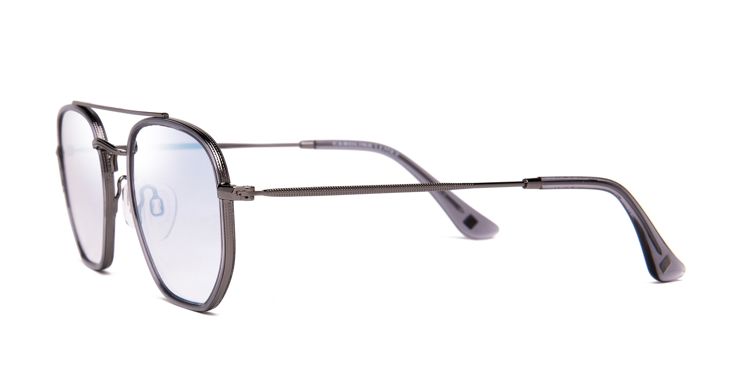 FRAME Transparent Grey LENS Silver Mirror