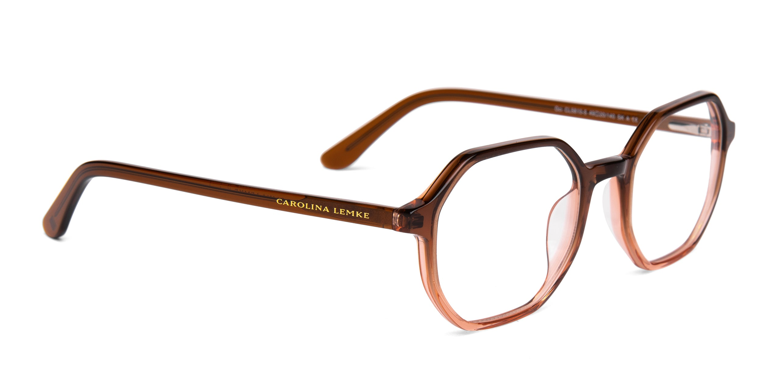 FRAME Transparent Ocean Brown to Pink
