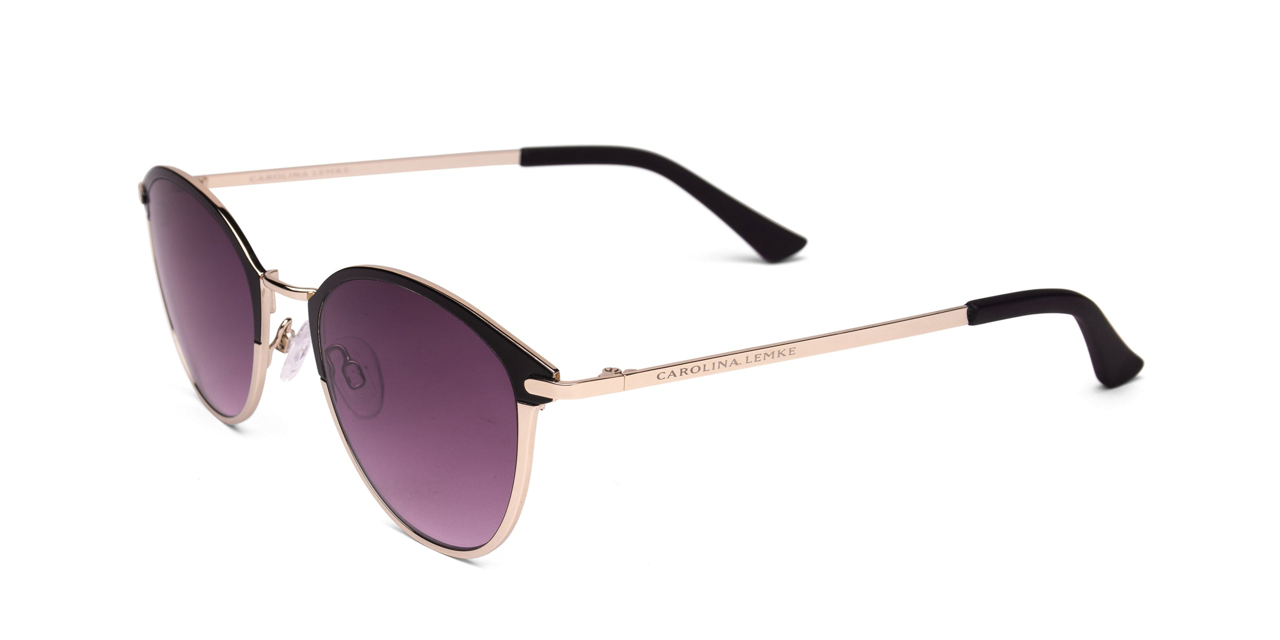 FRAME Gold Matt Black LENS Gradient Smoke