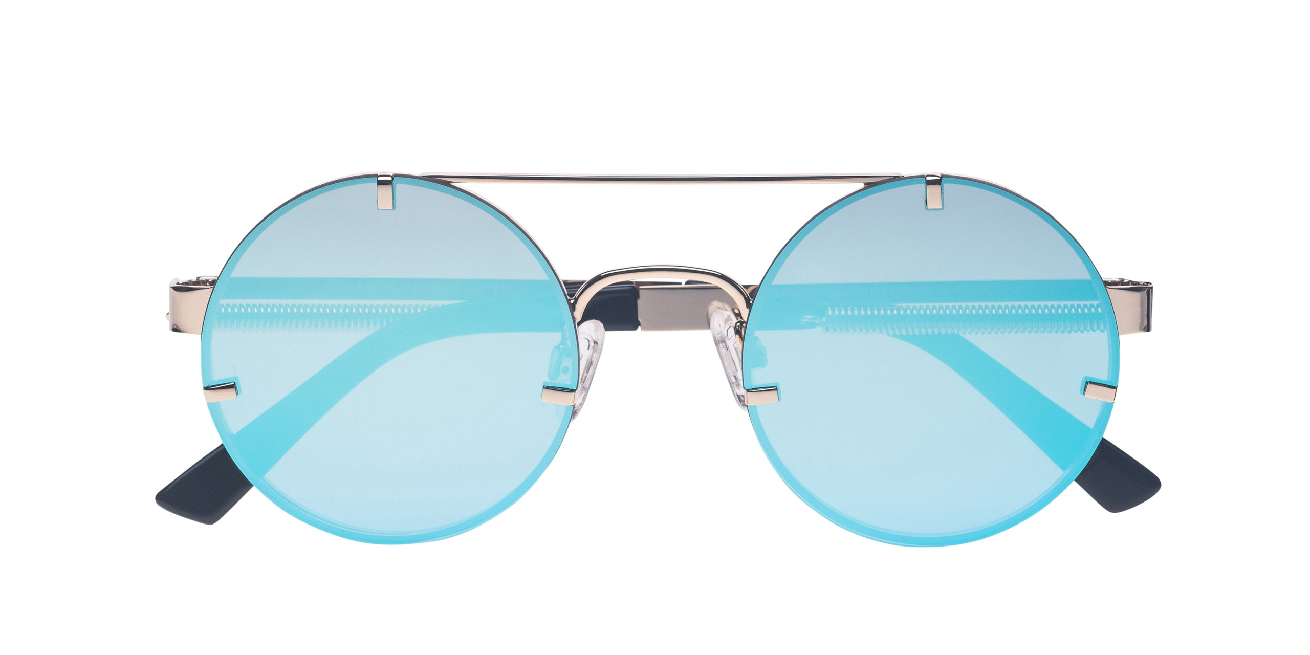 FRAME Gold LENS Ice Blue