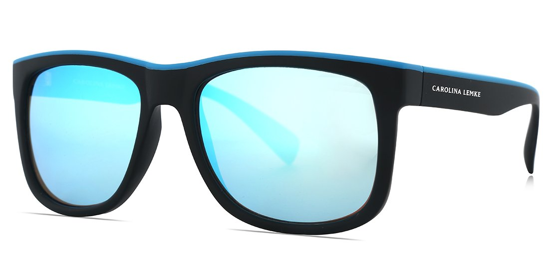FRAME Matt Black Blue LENS Ice Blue