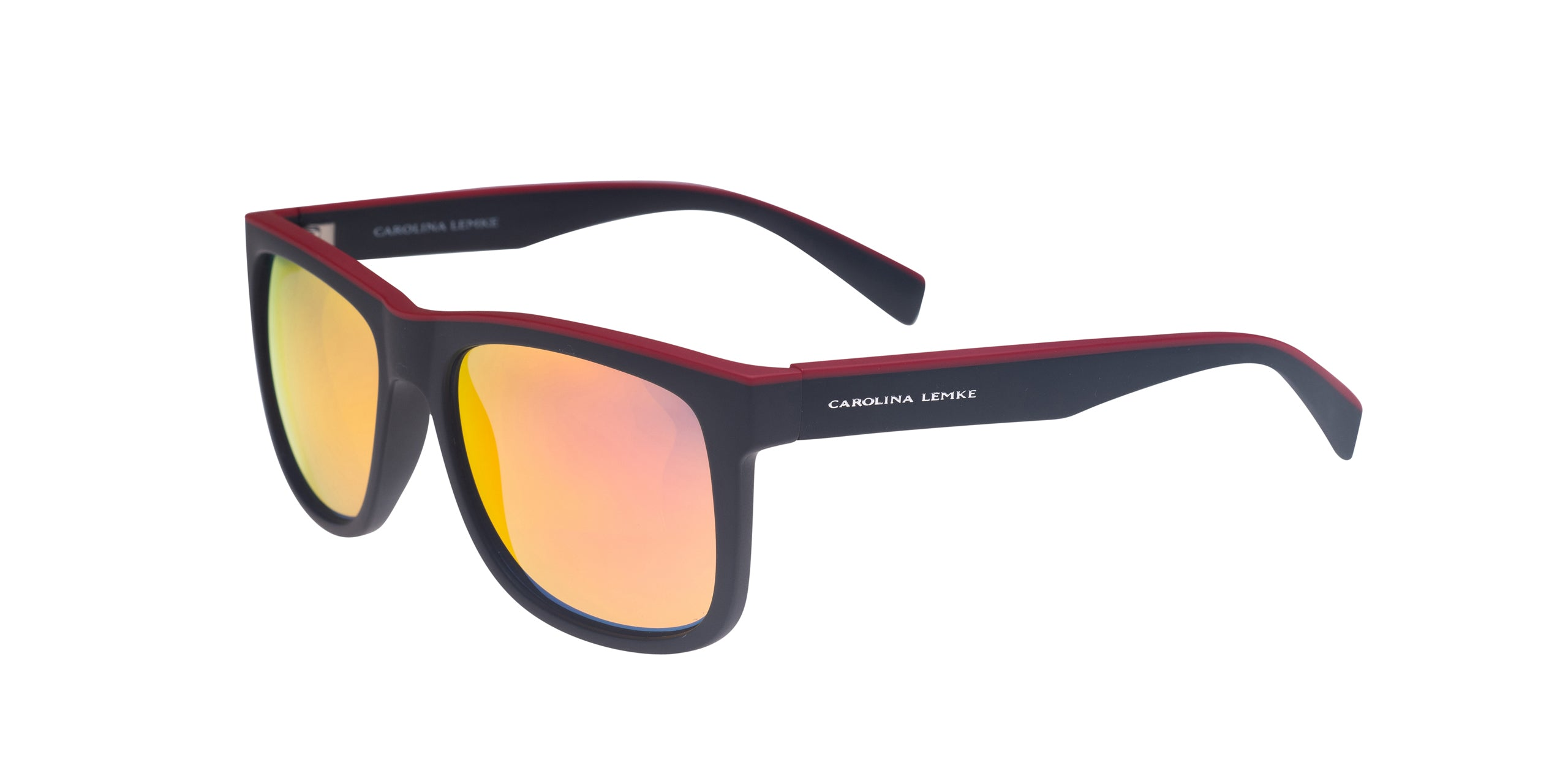 Frame Matt Black Red LENS Red Mirror