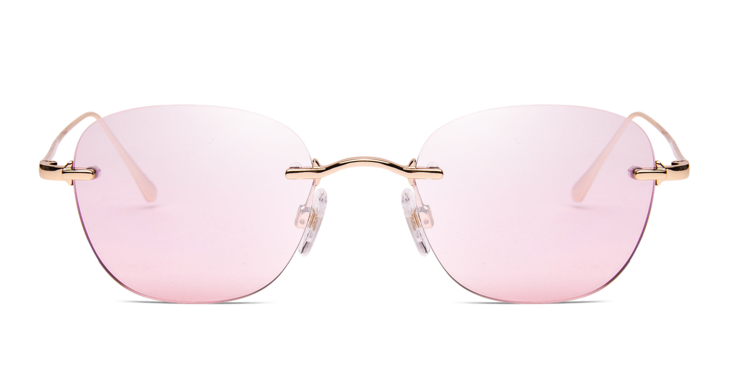 FRAME Gold LENS Gradient Silver to Pink