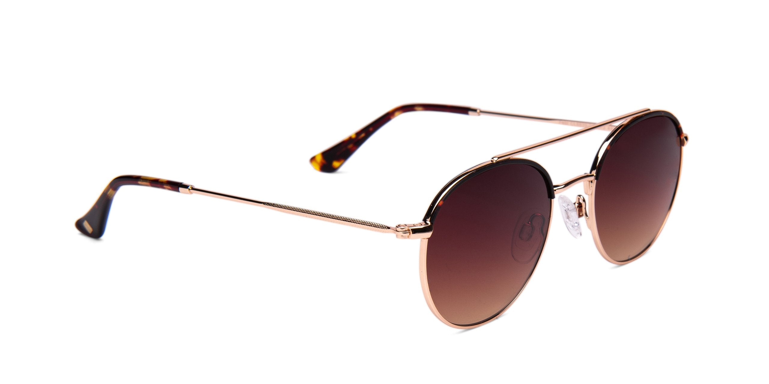 FRAME Tortoise Shell Gold LENS Gradient Brown