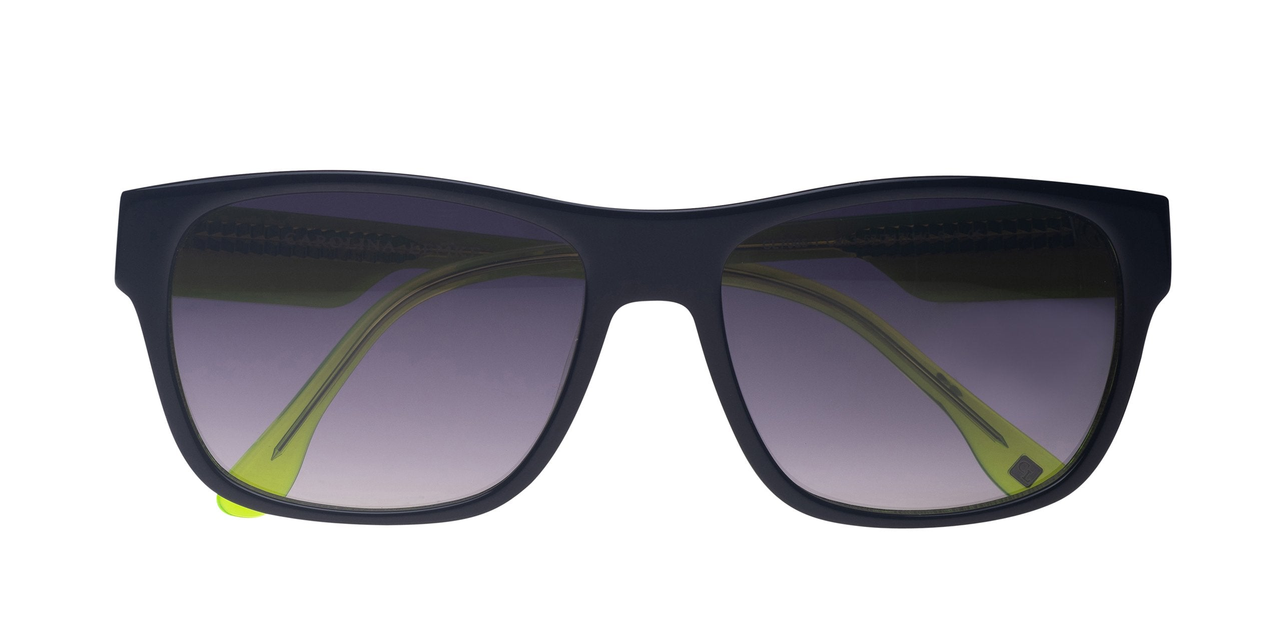 FRAME Black White Neon Yellow LENS Gradient Smoke