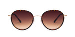 FRAME Gold and Tortoise Shell LENS Gradient Brown