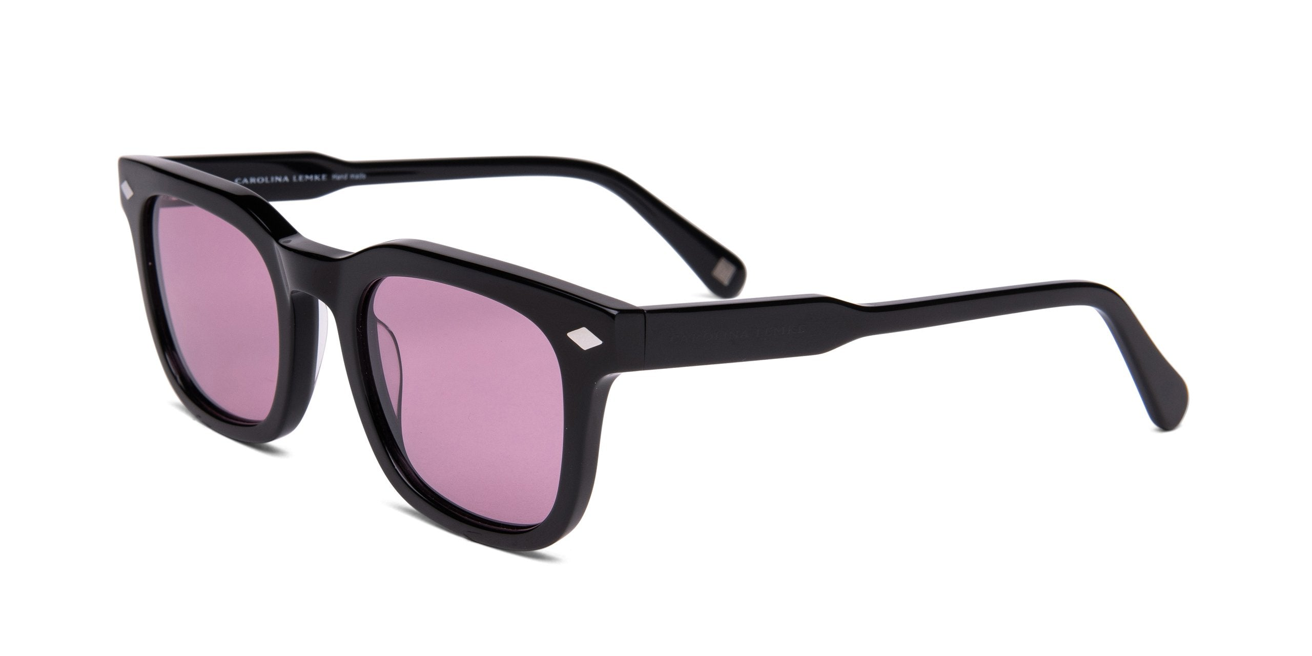 FRAME Shiny Black LENS Dark Purple