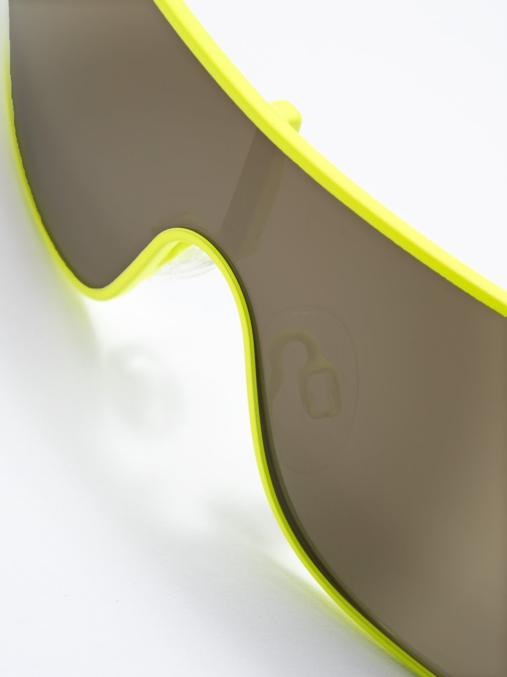 LS-FRAME Matt Neon Lime LENS Gold Mirror