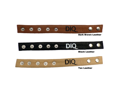 DIQ Leather C-ring with Snaps, Adjustable Leather Bracelet