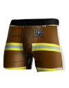 Firefighter Brown AOP Boxer Brief Single Side All Over Print
