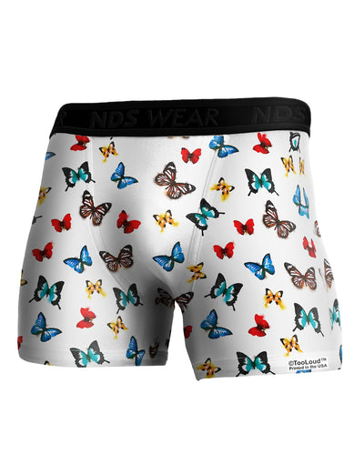 Watercolor Butterflies AOP Boxer Brief Dual Sided All Over Print