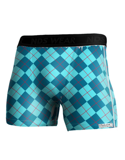 Blue Argyle AOP Boxer Brief Dual Sided All Over Print