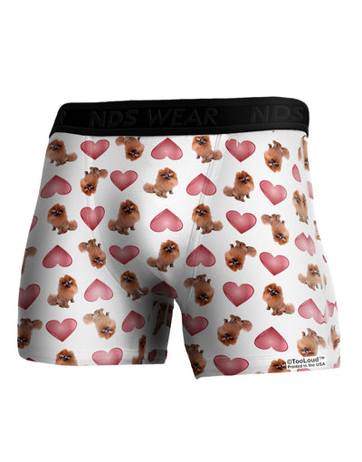Pomeranian Hearts AOP Boxer Brief Dual Sided All Over Print